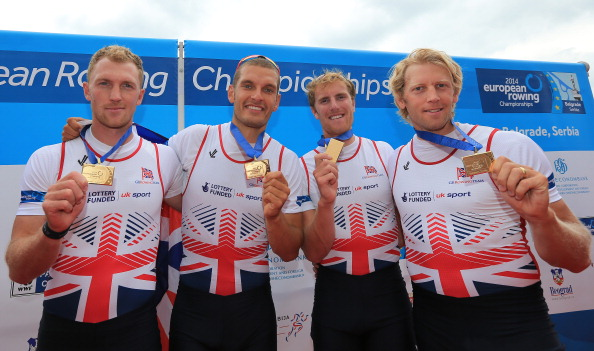 Showing off our new European gold medals, happy faces all round.