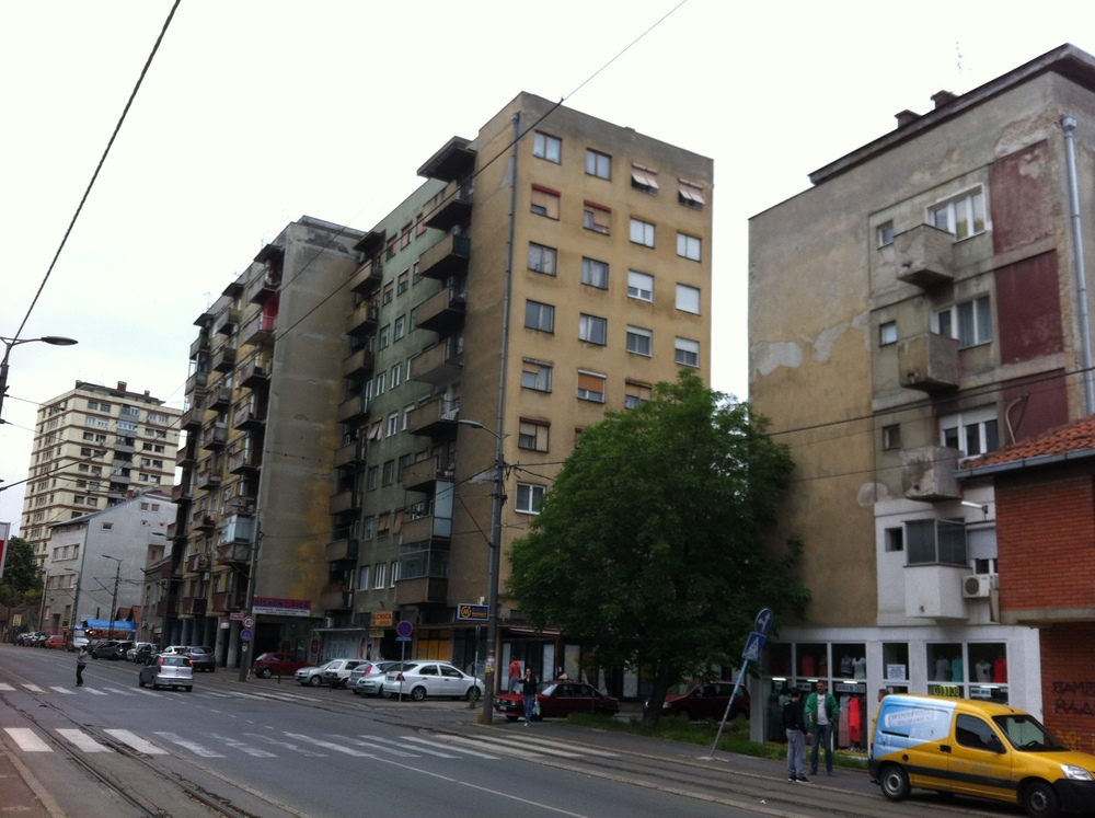 A typical street in Belgrade, was I really looking forward to being there!?