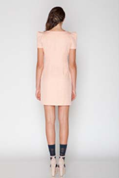 Blush Cap Sleeve Dress, Back