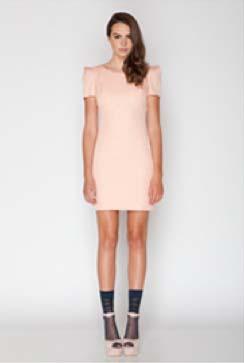 Blush Cap Sleeve Dress, Front