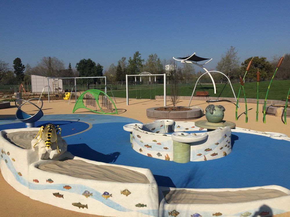 Children's Play Garden - Rotary Club San Jose - Concrete Sand Table, Water Feature, Scientific Sculptures, Water Feature, Ceramic Tile