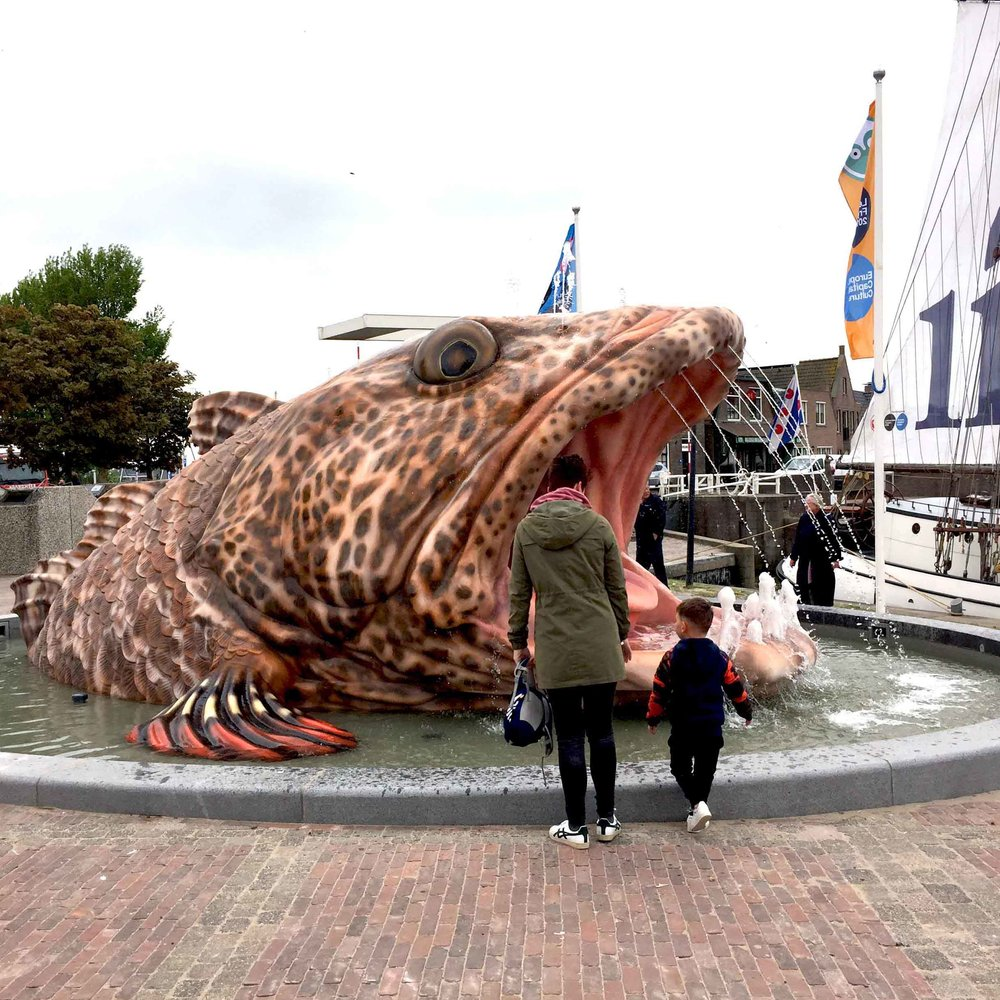 Mark Dion : 11Fountains Fish Fountain  Stavoren, The Netherlands