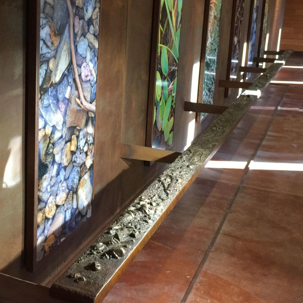 Laurence S. Rockefeller Preserve : Bronze Tactile Rail  Jackson, WY