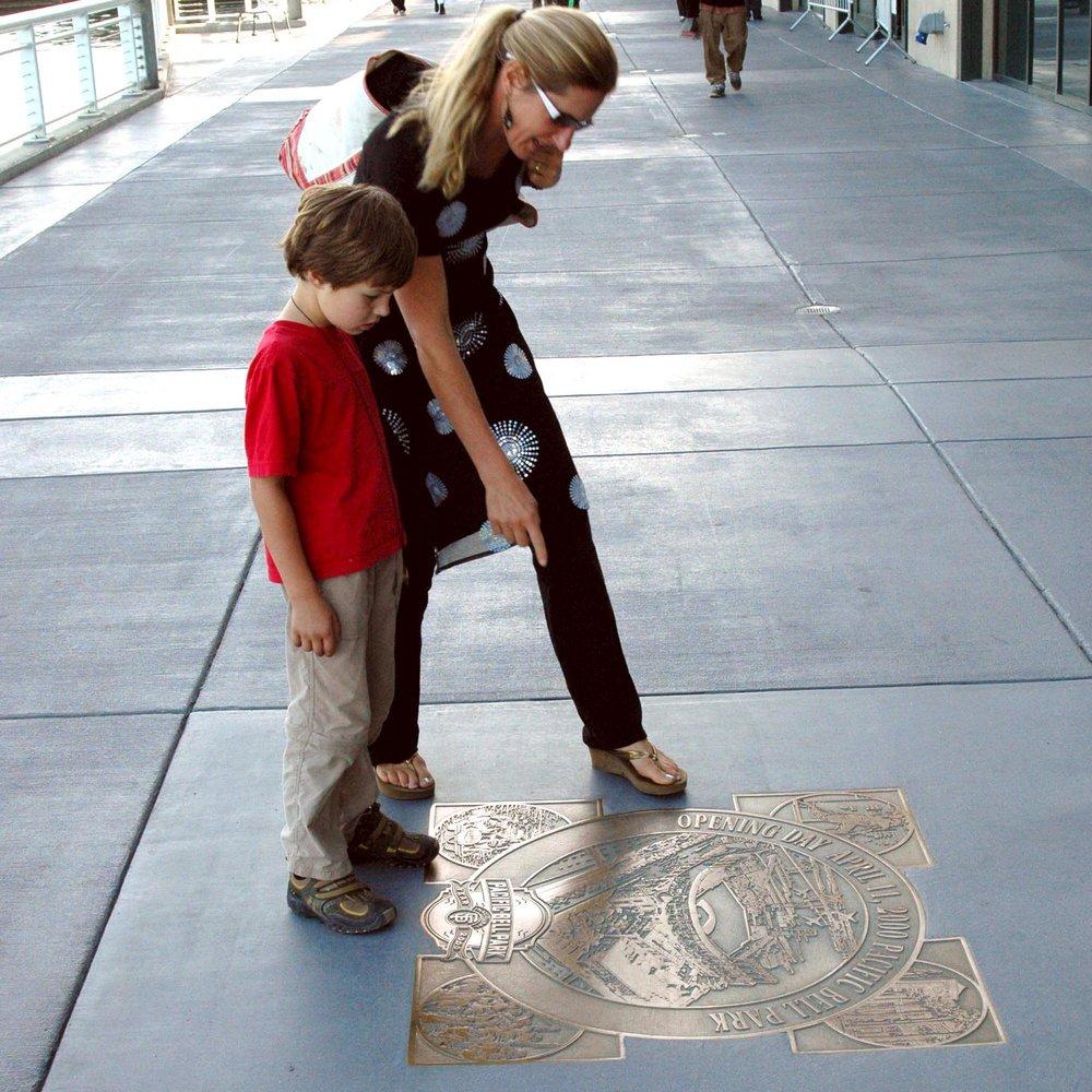 San Francisco Giants: Port Walk Bronze Plaques  San Francisco, CA