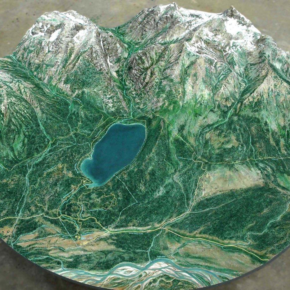 Laurence S. Rockefeller Preserve : Grand Teton Topo Map  Jackson, WY