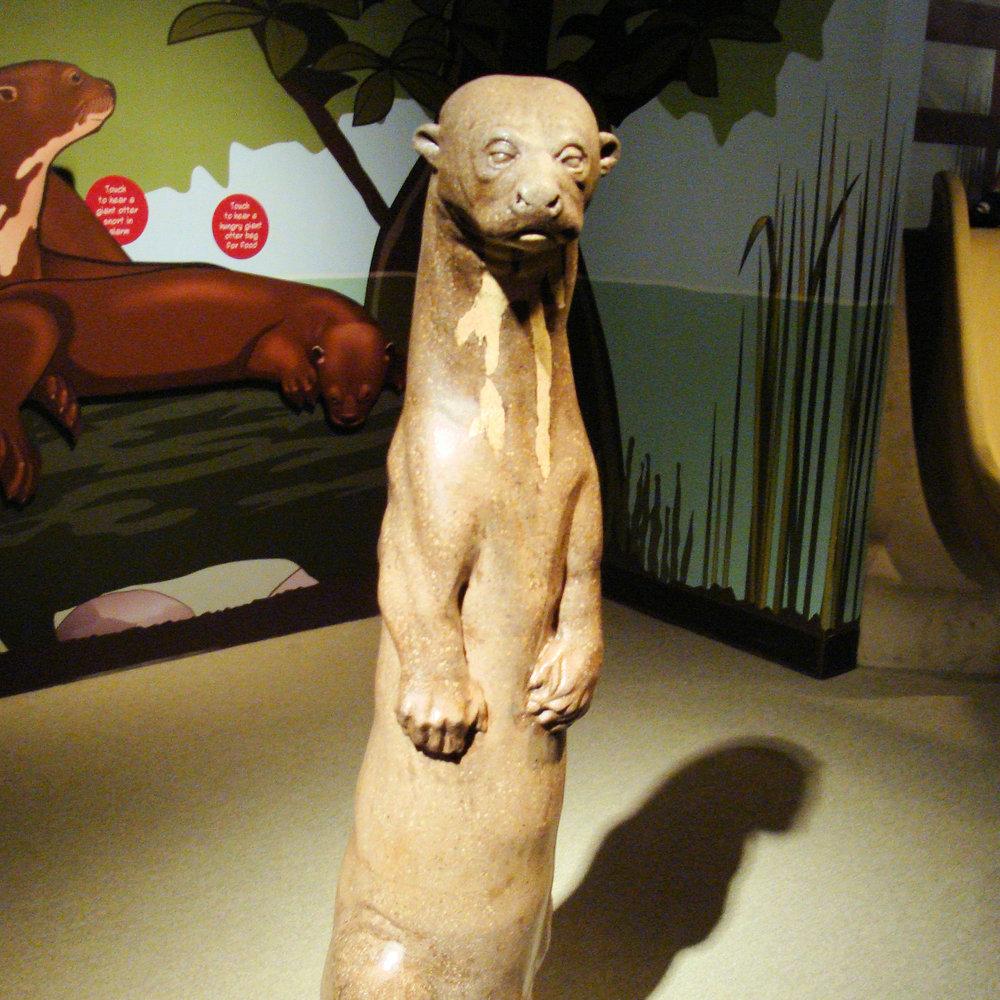 Monterey Bay Aquarium : Giant River Otter Sculpture  Monterey, CA