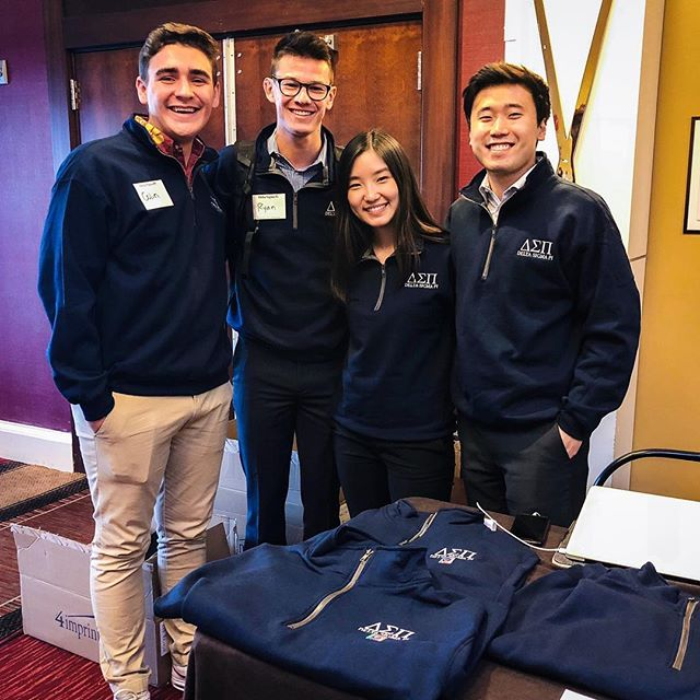 Some of our brothers are in Albuquerque representing Phi and the South Pacific region at LEAD! Special shoutout to Colin for being a stellar quarter zip model (and if you're interested in buying one, let us know) #phi #dsp #LEAD