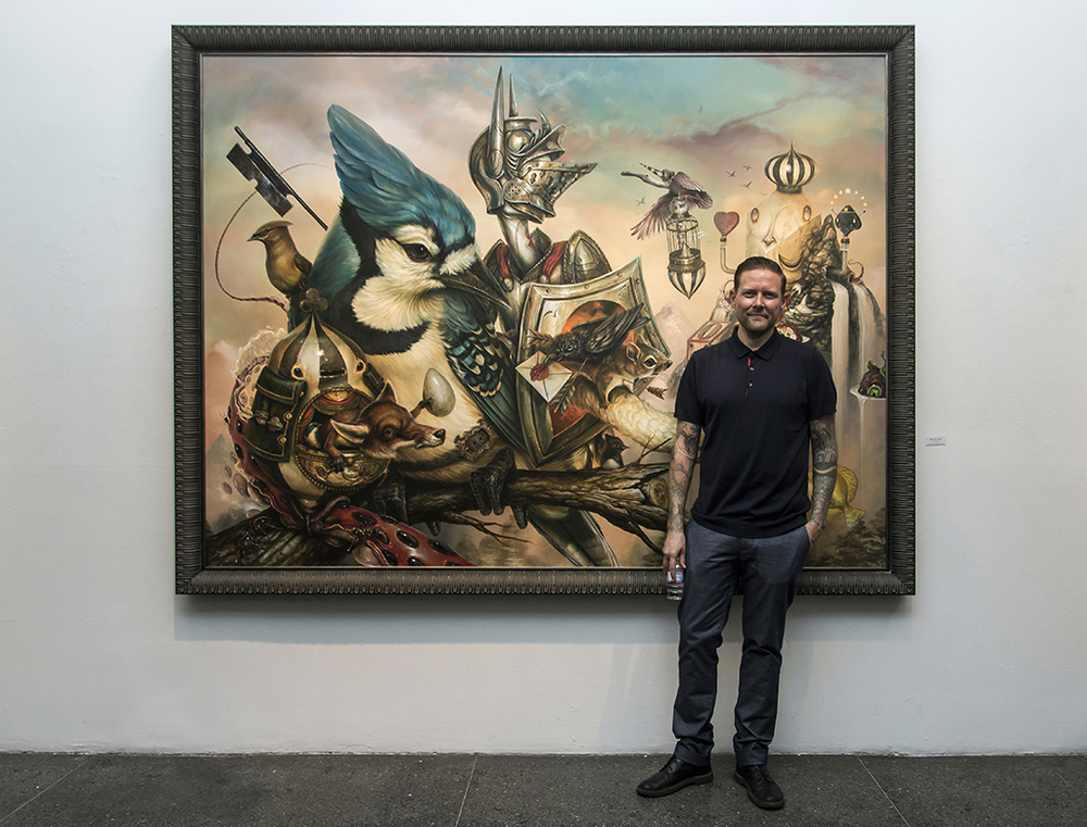 "Over the weekend, the Merry Karnowsky Gallery unveiled the latest solo show, titled Good Knight, by artist Greg ""Craola"" Simkins (featured). Just as his previous show a year ago (covered), this new body of work from the gifted painter brought in a massive crowd (including both fans and established artists like Laurie Lipton, Saber & Dabs Myla) eager to see his latest display of surreal and fantastical imagery. Read more..."