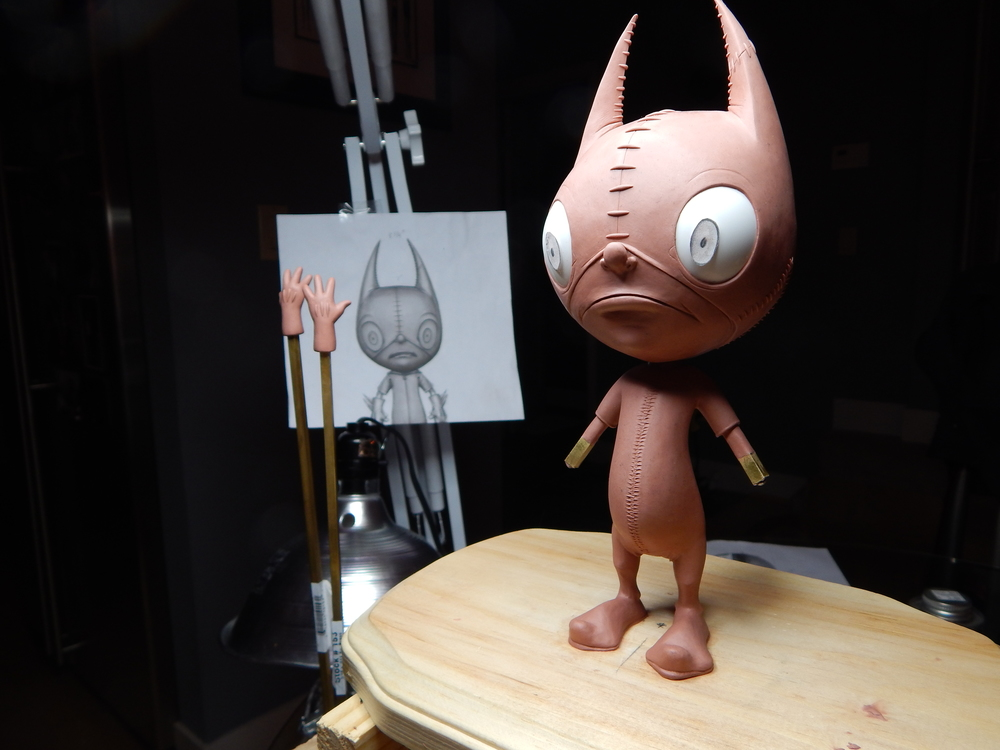 Ralf's sculpt in clay.