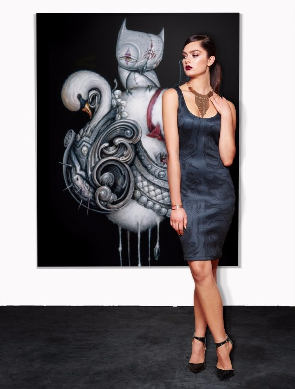"""Black Flash"" Scuba Dress Limited Edition of 50 pieces $250"