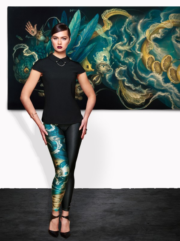 """The Messenger"" Queen West Leggings Limited edition of 75 pieces $100"