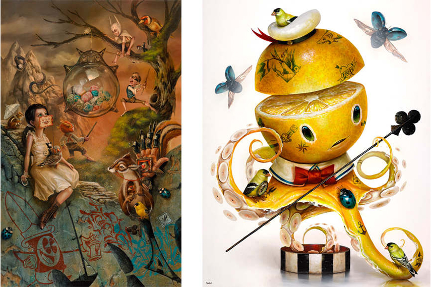 Left: Greg 'Craola' Simkins – The Glass Pinata / Right: Greg 'Craola' Simkins – YELLOW