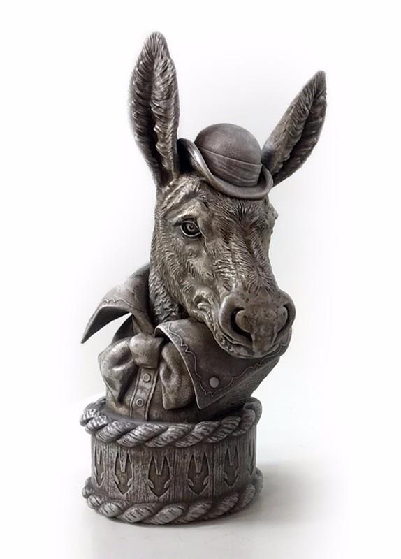 """Mini Bust Statue:  5.8"""" H x 2.5"""" W x 3"""" D"""