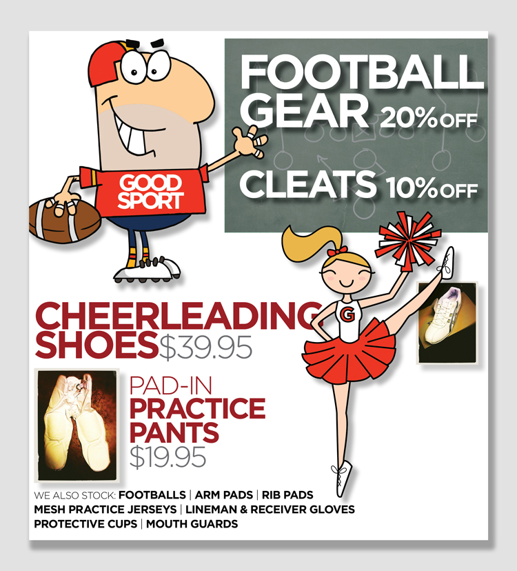 Stop by the store for FOOTBALL GEAR savings!