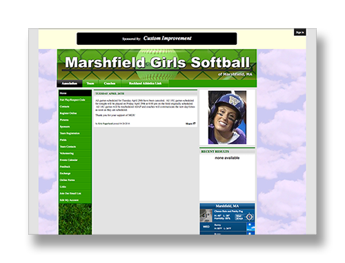 Marshfield Girls Softball