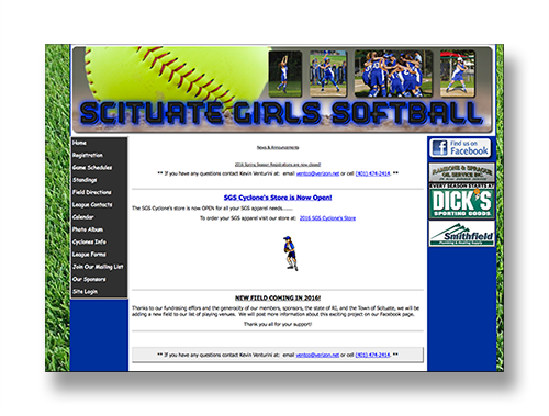 Scituate Girls Softball