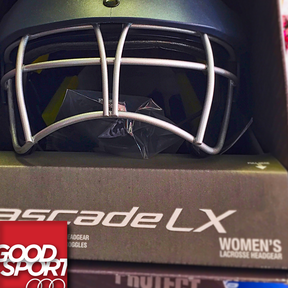 The new Cascade LX women's lacrosse helmet.