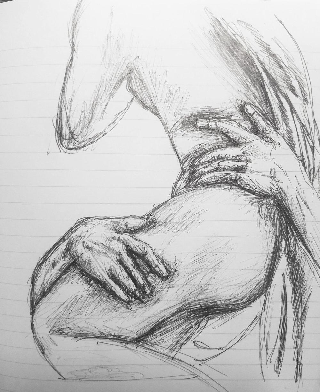 Sketch of Bernini's The Rape of Proserpina