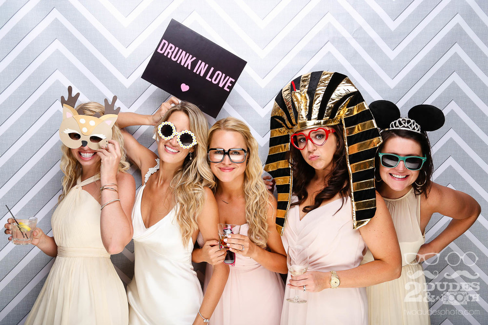 bride and bridesmaids in wedding photobooth in geyserville | san francisco open air photo booth