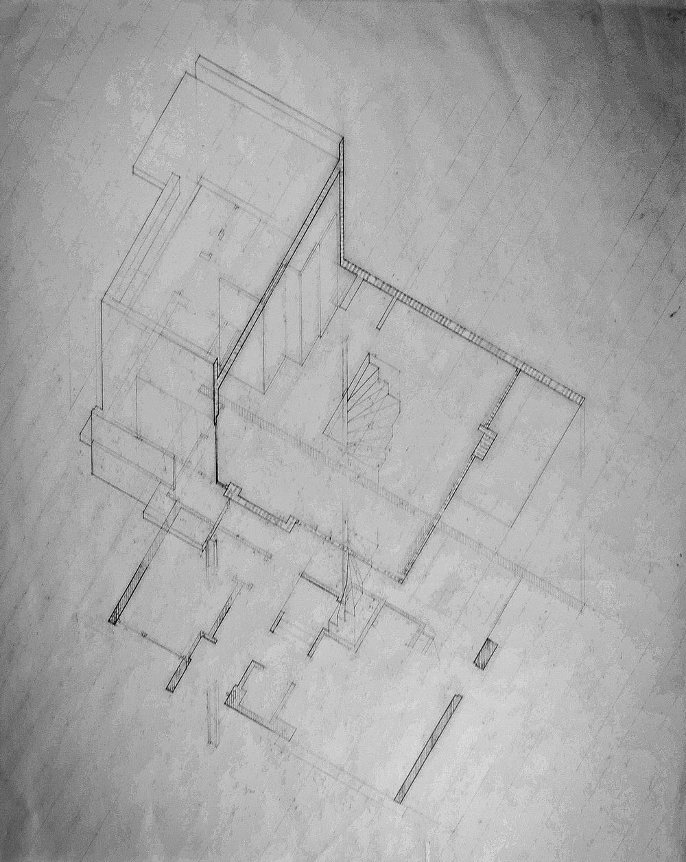 Hybrid plan, section, axonometric