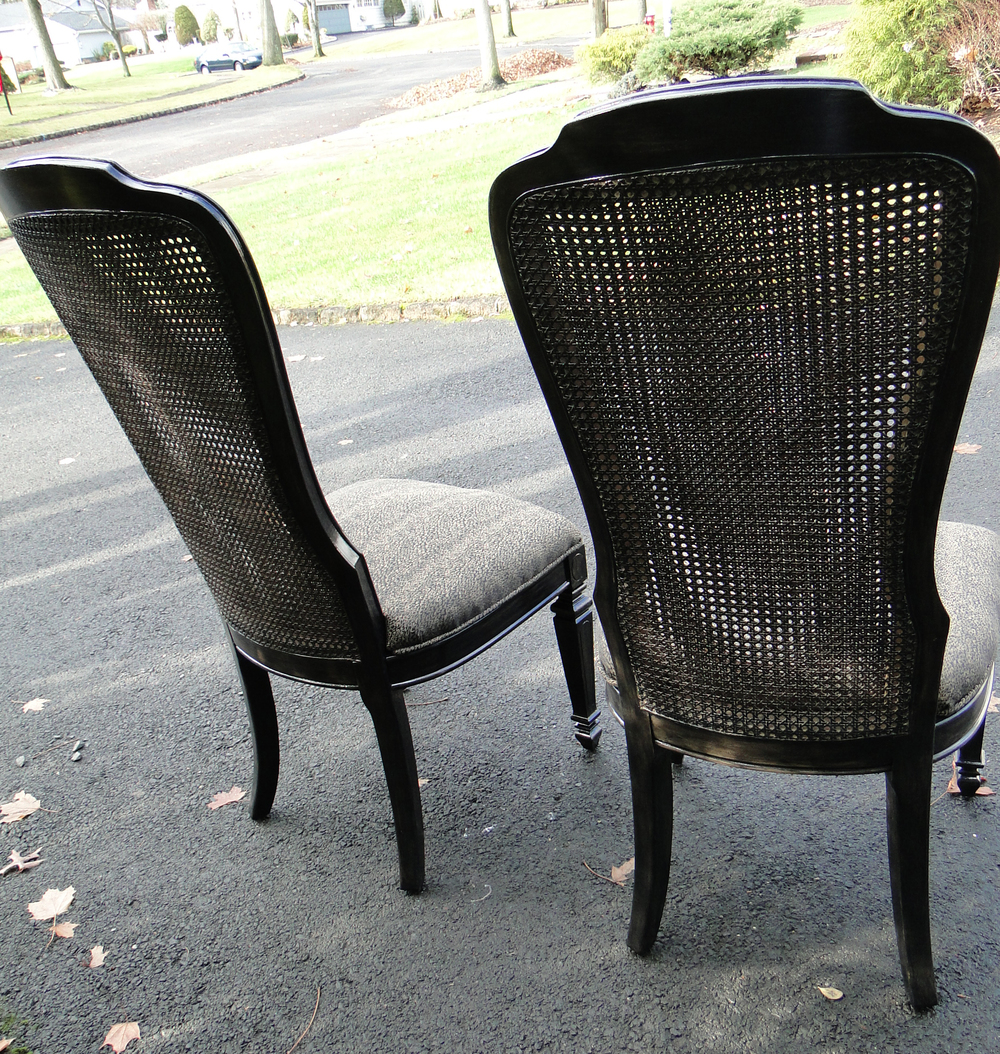 Rear view of chair set