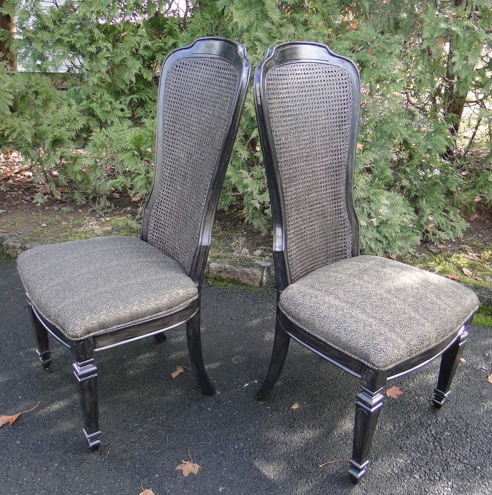 Painted Double Caned Chairs