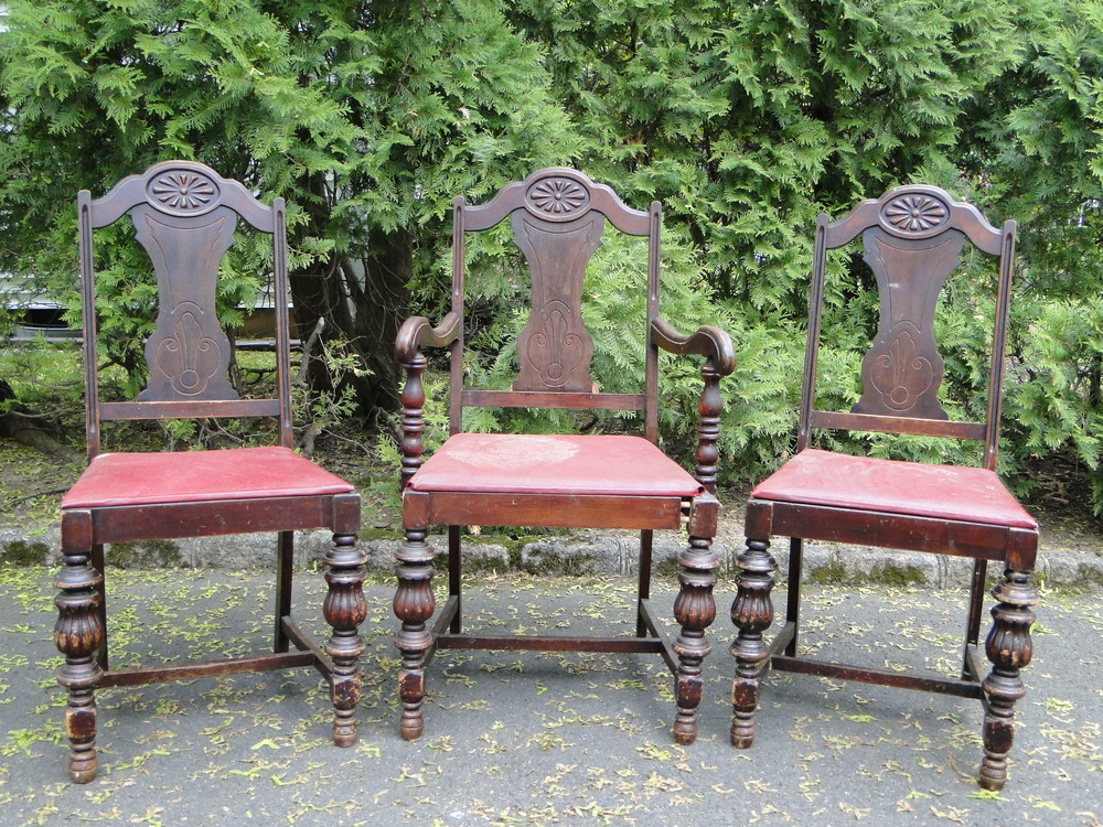 Set of 3 Antique Dining Chairs