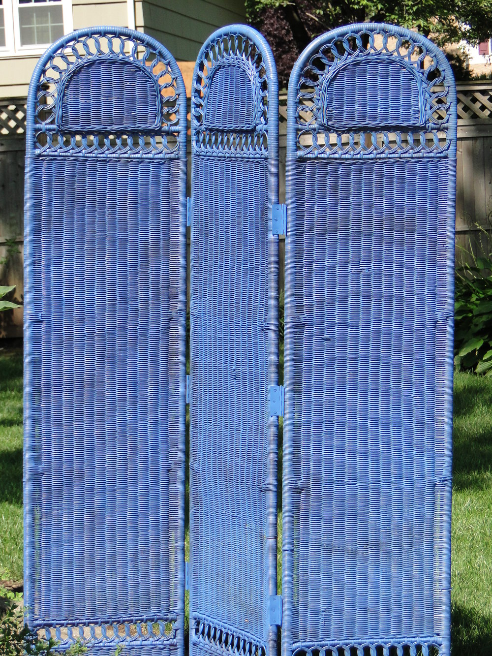 Three Panel Rattan Screen