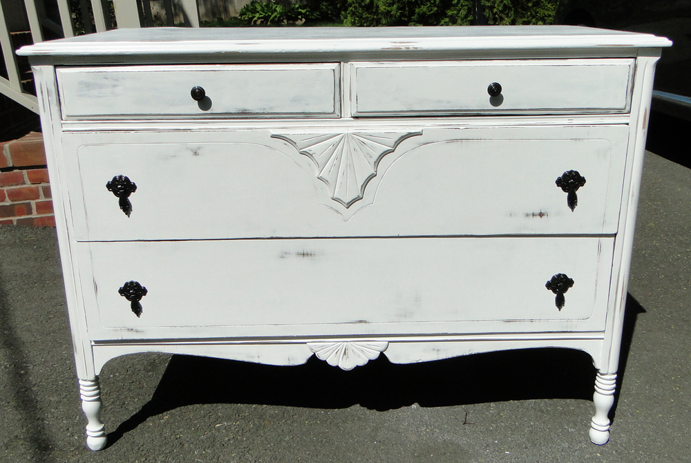 Front view of completed dresser