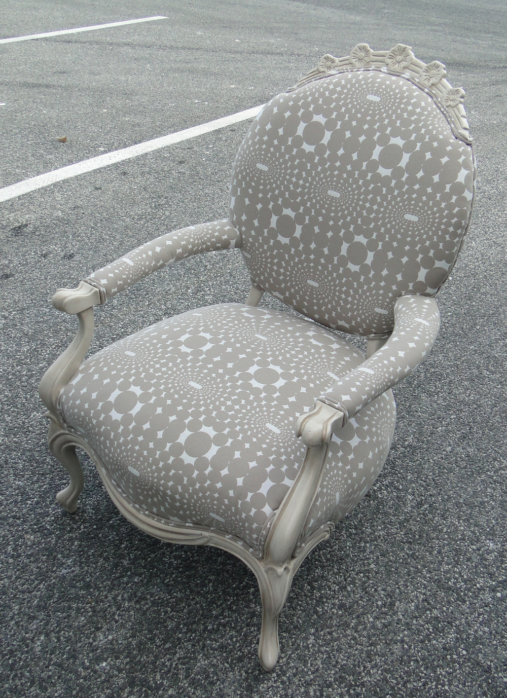 """""""After"""" photo of revamped arm chair"""