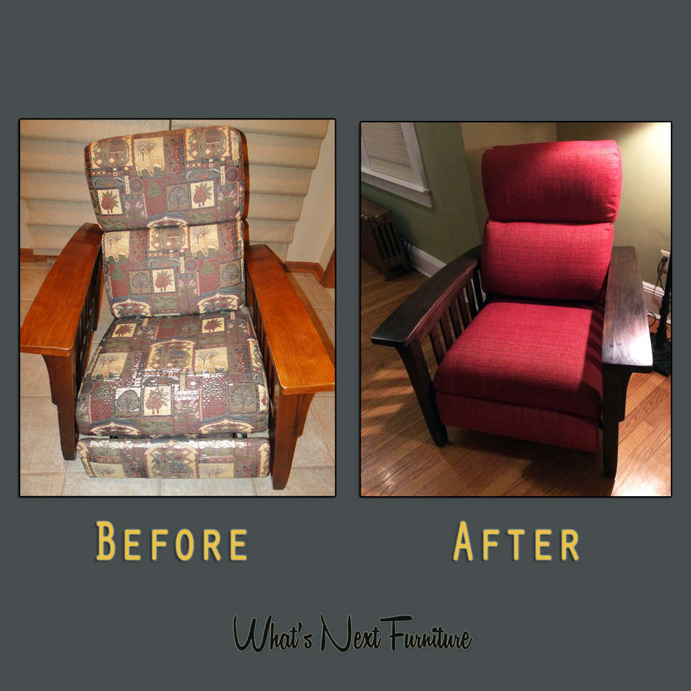 Ambinder Recliner Chair Before After Square Grey