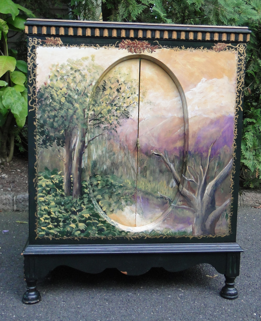 """""""Before"""" view of pretty painted piece"""