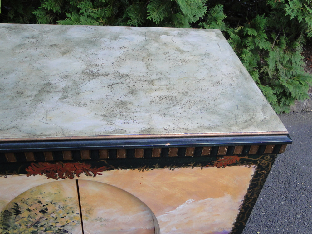 """""""Before"""" view of faux painted top"""