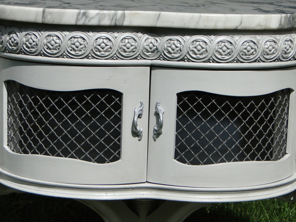 Close up of refinished doors