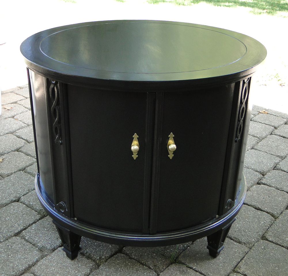 """""""After"""" view of refinished cabinet"""