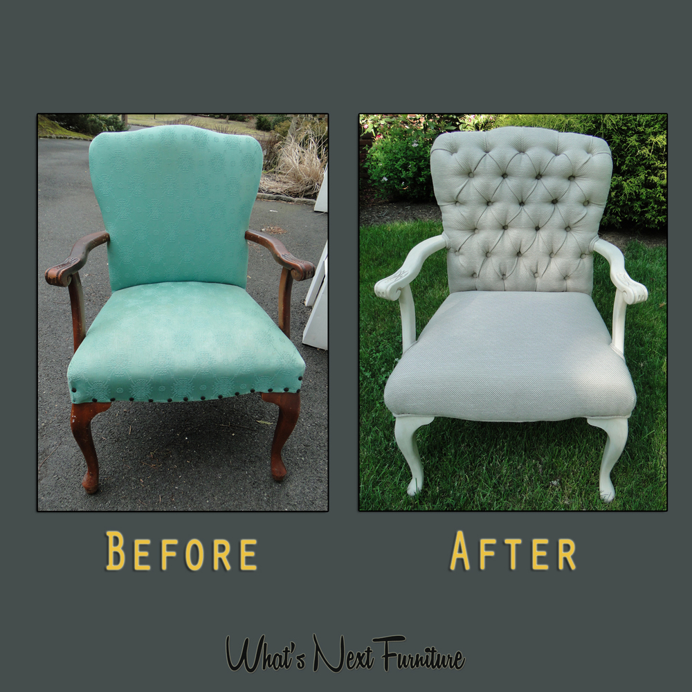 Mission Taupe Tufted chair before after square grey.jpg