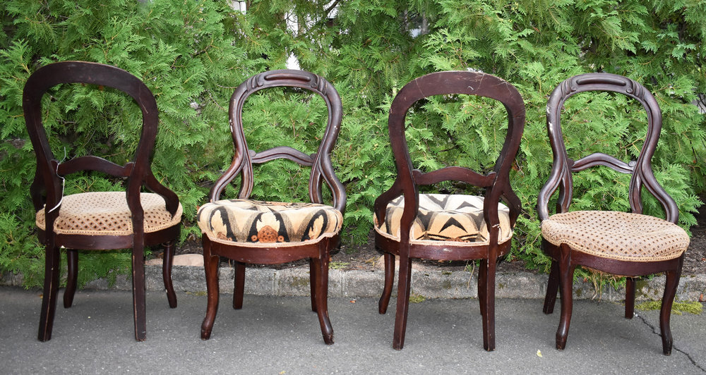 Foursome of Victorian Balloon Chairs