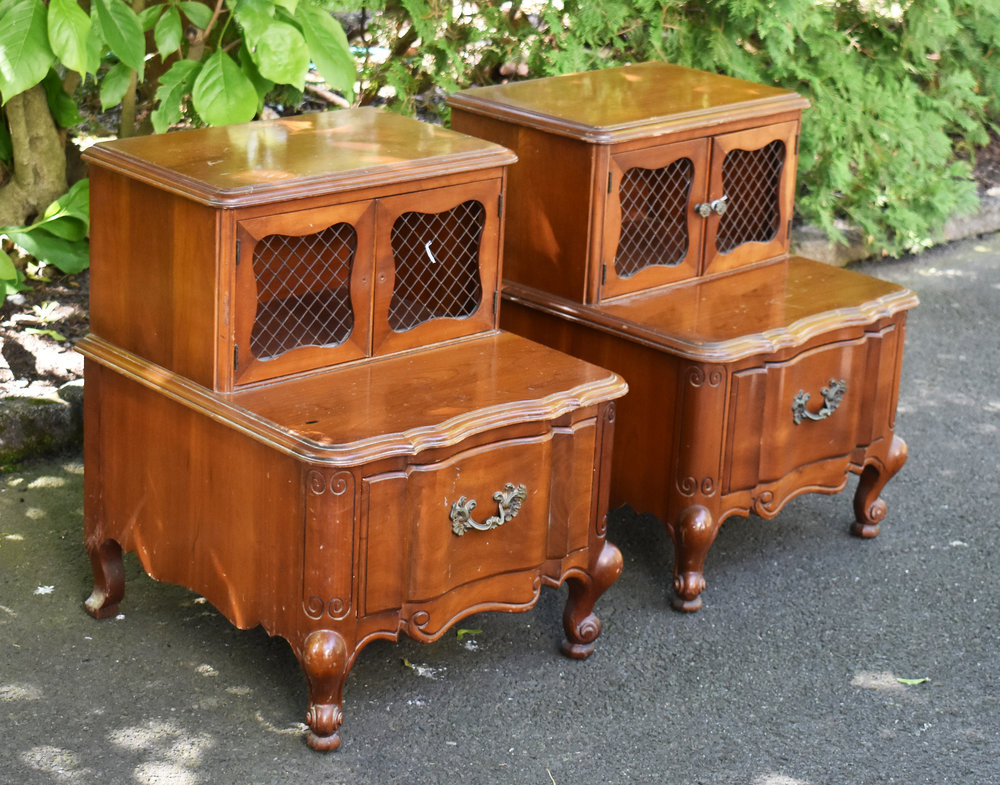 Pair of French Style Nightstands
