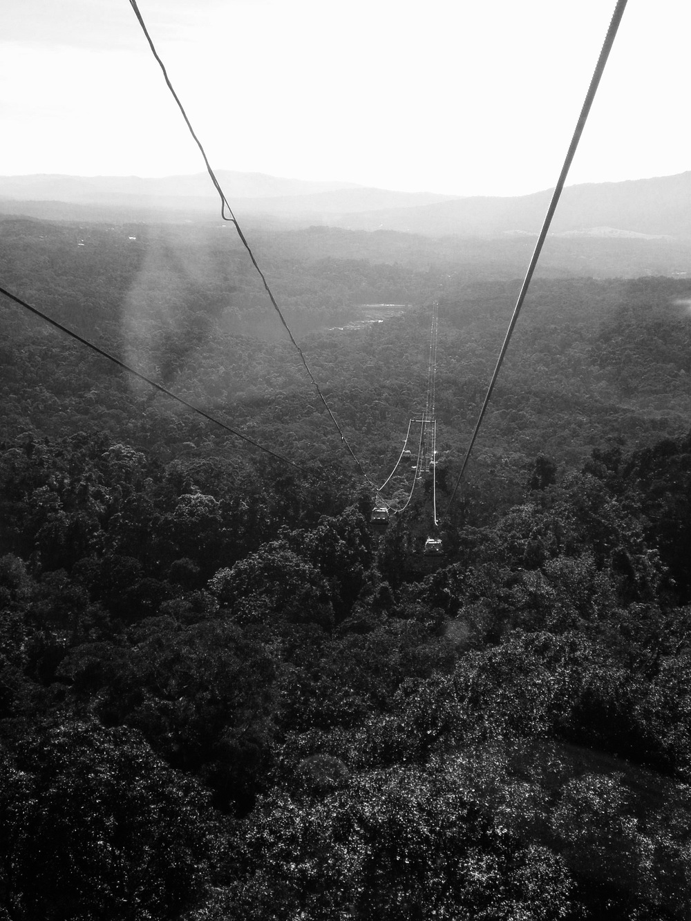 This photo was taken just as we left the cable car hub, after we had ridden the mountain side railway up to the top. The cable car ride was about an hour, high up above the trees, looking down into the Barron Gorge National Park. I remember tearing up and freaking out as the cable car left the station. I had never been in one before and I was/am afraid of heights (especially heights over a mysterious rainforest in Australia). I made it down alive, with no make-up, and some amazing sights to remember.   4/5 - 2008