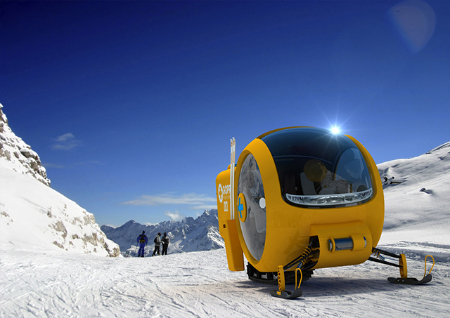 GOPR Rescue Snowobile by Lange & Lange