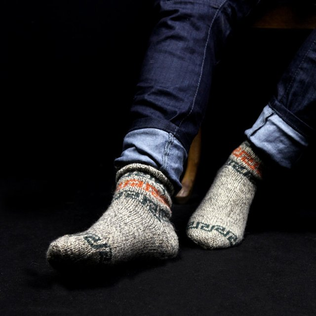 Men's Geometry Eco Friendly Wool Socks ($34)