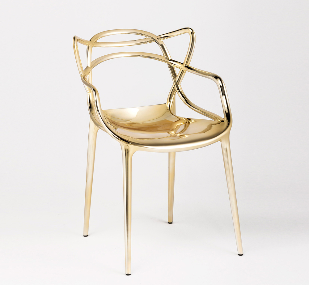 Precious kartell philippe starck reimagines the masters for Sedie cromate