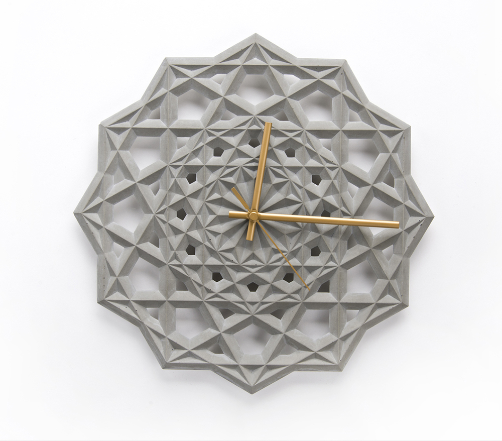 Prime geometric wall clock by CitieSocial