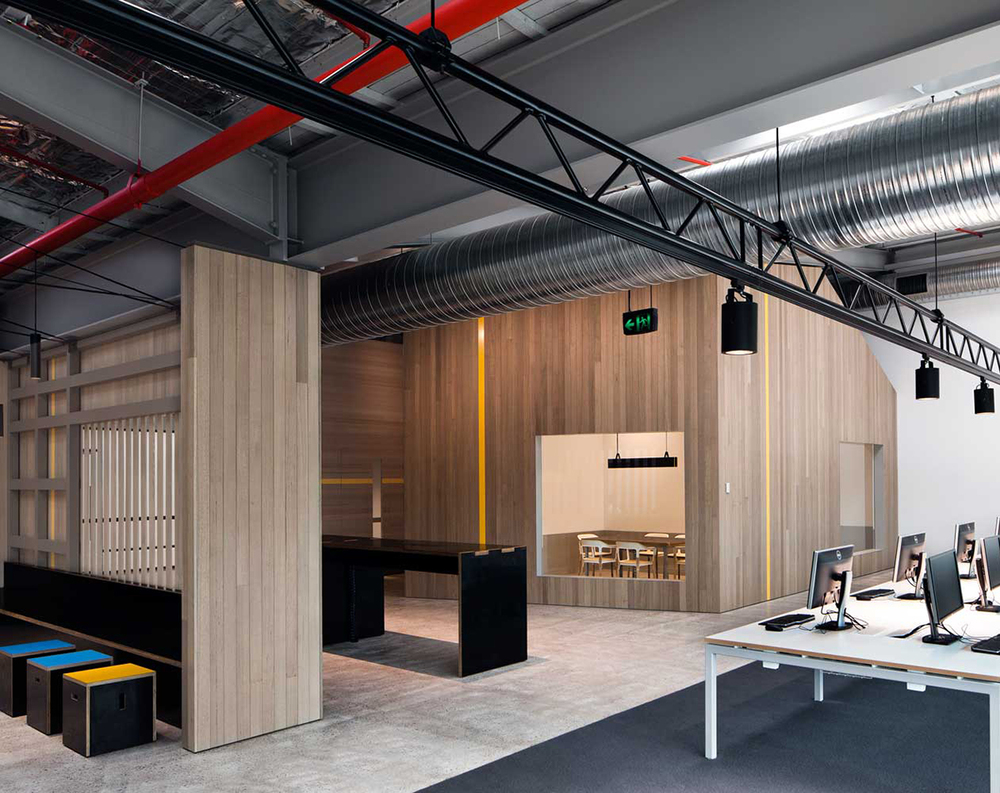industrial design office space. goodman office by make creative sydney design industrial space n