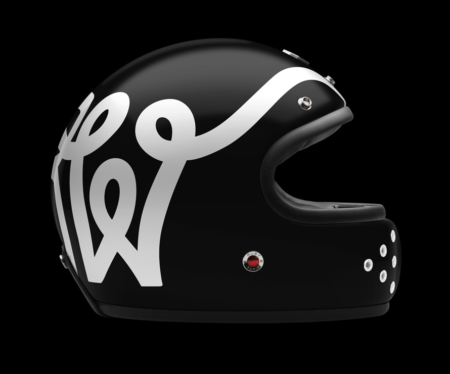 Ruby Wheels and Waves Motorcycle Helmet