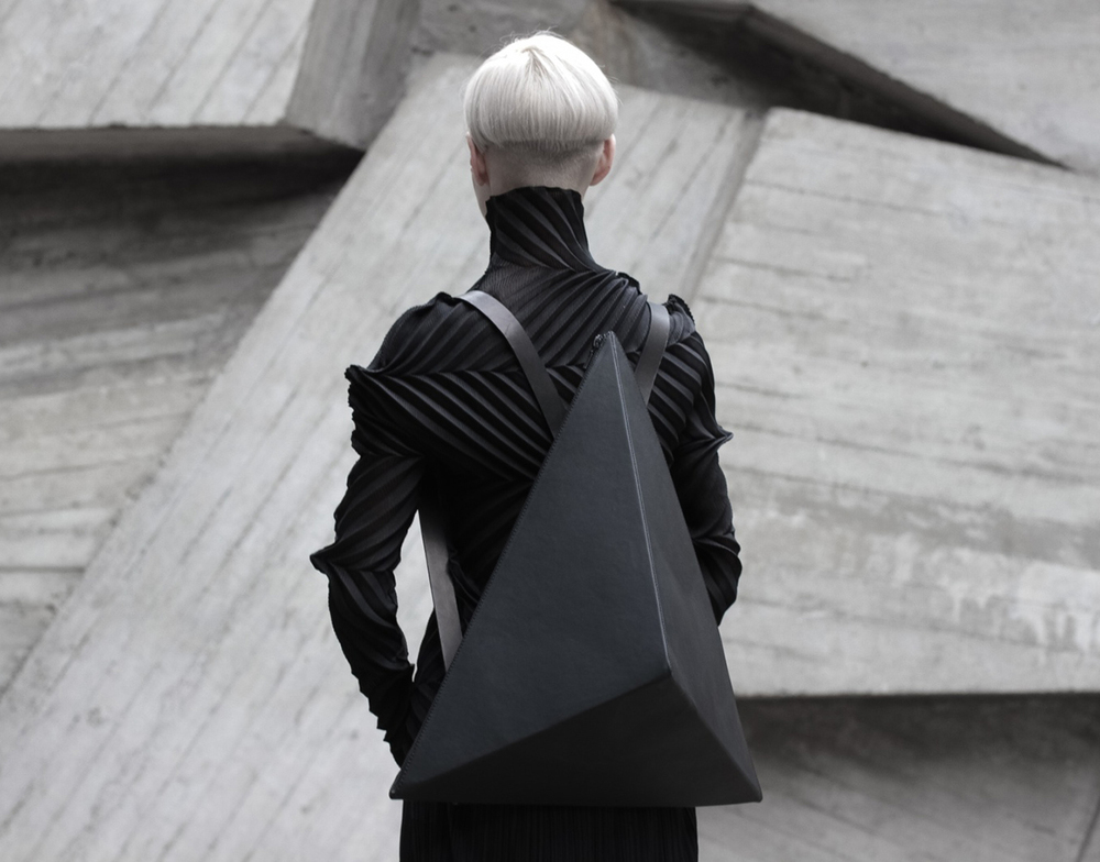 Platonic Solid backpacks by Kofta