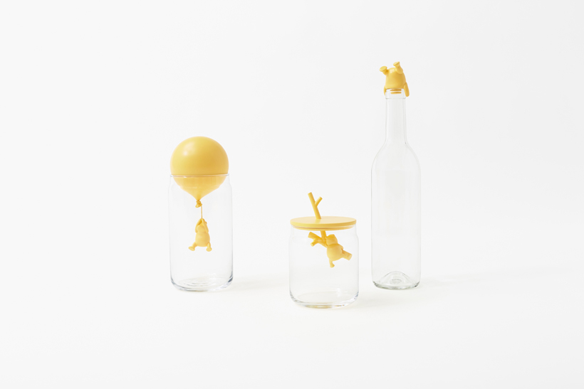 Pooh Glassware Set of Containers and Coasters for Disney by Nendo, Japan