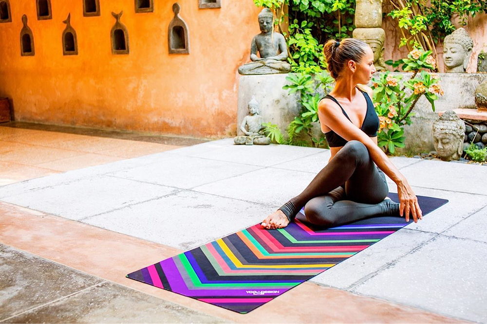 Yoga Design Lab colorful and eco friendly mats and towels