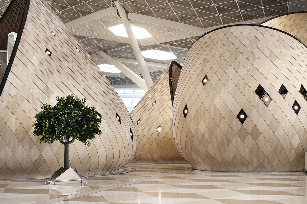 Heydar Aliyev International Airport designed by Autoban