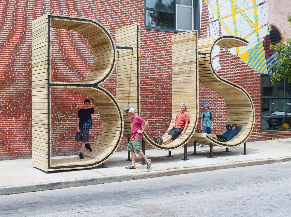 mmmm...'s new Baltimore bus stop sculpture.